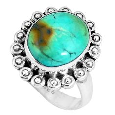Clearance Sale- Green arizona mohave turquoise 925 sterling silver ring size 7 d30503