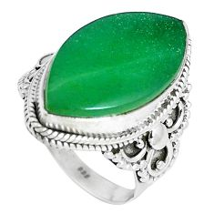 Green jade marquise shape 925 sterling silver ring jewelry size 7 d30521