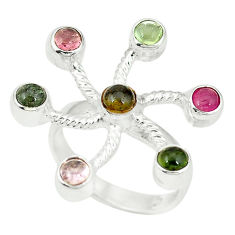 lor tourmaline 925 sterling silver ring size 7.5 d4333