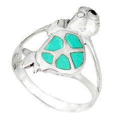 oise onyx enamel 925 silver tortoise ring size 9 d5334