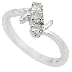 Clearance Sale- Natural white topaz 925 sterling silver ring jewelry size 8 d5673