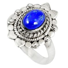 Clearance Sale-  lapis lazuli oval ring jewelry size 7.5 d5939
