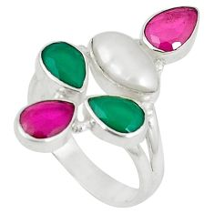 Clearance Sale- arl 925 sterling silver ring size 8 d5989