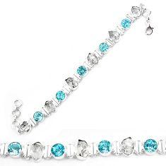 925 sterling silver natural white herkimer diamond topaz tennis bracelet k85780
