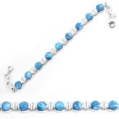 925 sterling silver natural blue owyhee opal bracelet jewelry k86649
