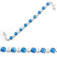 Natural blue owyhee opal 925 sterling silver bracelet jewelry k86654