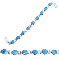 925 sterling silver natural blue owyhee opal oval bracelet jewelry k86656