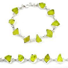 925 sterling silver natural lemon topaz rough tennis bracelet jewelry k92444