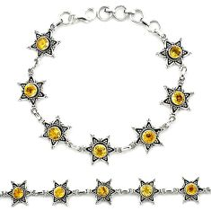 925 sterling silver natural yellow citrine tennis bracelet jewelry k92504