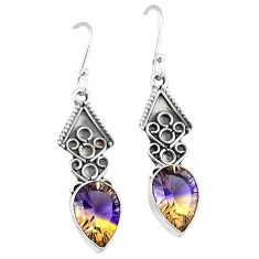 Clearance-Multi color ametrine (lab) 925 sterling silver dangle earrings k63661