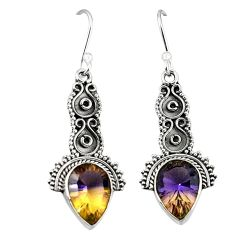 Clearance-925 sterling silver multi color ametrine (lab) dangle earrings jewelry k80024