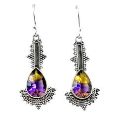 Clearance-Multi color ametrine (lab) 925 sterling silver dangle earrings jewelry k80037