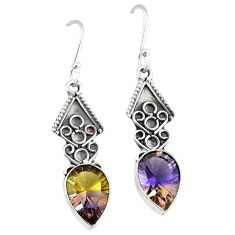 Clearance-Multi color ametrine (lab) 925 sterling silver dangle earrings jewelry k80046