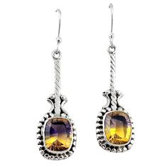 Clearance-Multi color ametrine (lab) 925 sterling silver dangle earrings jewelry k83631