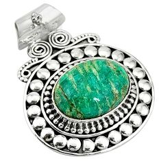 Clearance-Natural green aventurine (brazil) 925 sterling silver pendant jewelry k66752