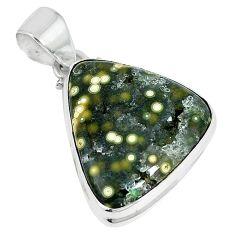 Ocean druzy fancy 925 sterling silver pendant jewelry k87441