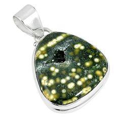 Ocean druzy fancy 925 sterling silver pendant jewelry k87452
