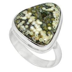 925 sterling silver ocean druzy fancy shape ring jewelry size 7 k87419
