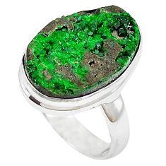 925 sterling silver natural green variscite ring jewelry size 6.5 k91624