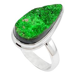 Natural green variscite 925 sterling silver ring jewelry size 8.5 k91630