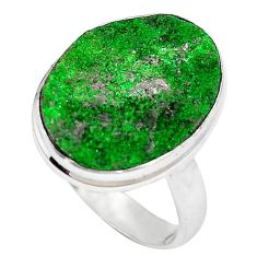 925 sterling silver natural green variscite ring jewelry size 8.5 k91633