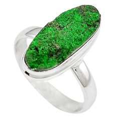 Natural green variscite 925 sterling silver ring jewelry size 9.5 k91638