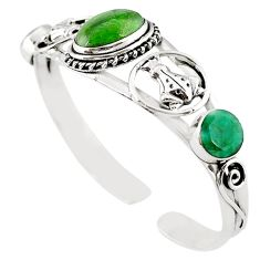 925 sterling silver natural green chrome diopside emerald bangle jewelry m10467