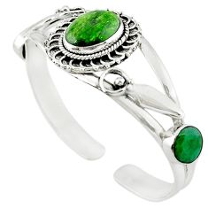 Natural green chrome diopside emerald 925 sterling silver bangle jewelry m10468