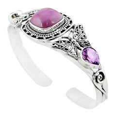 925 silver natural purple phosphosiderite (hope stone) bangle jewelry m10472