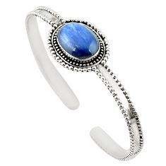 Natural blue kyanite 925 sterling silver adjustable bangle jewelry m25007