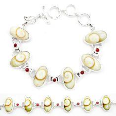 925 sterling silver natural shiva eye red garnet tennis bracelet jewelry m32204