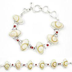 Natural shiva eye garnet 925 sterling silver tennis bracelet jewelry m32205