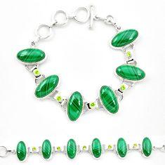925 silver natural green malachite (pilot's stone) tennis bracelet m32250