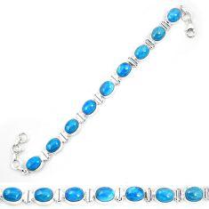 925 sterling silver natural blue apatite (madagascar) tennis bracelet m32438