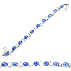 Natural blue tanzanite 925 sterling silver tennis bracelet jewelry m35437