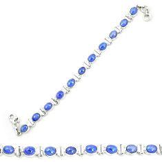 Natural blue tanzanite 925 sterling silver tennis bracelet jewelry m35459