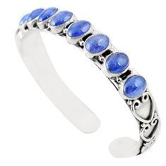Natural blue tanzanite 925 sterling silver adjustable bangle m37981
