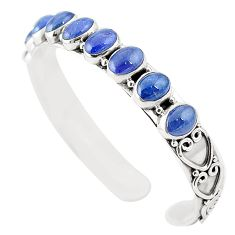 925 sterling silver natural blue tanzanite adjustable bangle jewelry m37984