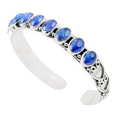 Natural blue tanzanite 925 sterling silver adjustable bangle m37989