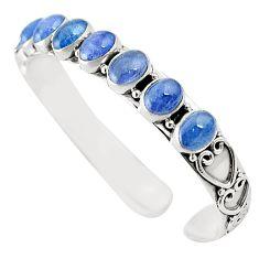 925 sterling silver natural blue tanzanite oval adjustable bangle m37994