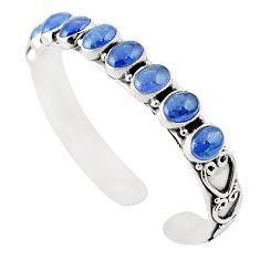 Natural blue tanzanite 925 sterling silver adjustable bangle m37997