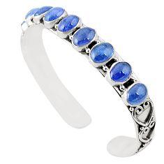 Natural blue tanzanite 925 sterling silver adjustable bangle m37998