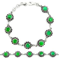 925 sterling silver natural green emerald tennis bracelet jewelry m41392