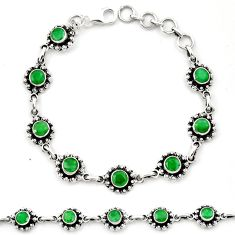 Natural green emerald 925 sterling silver bracelet jewelry m44111