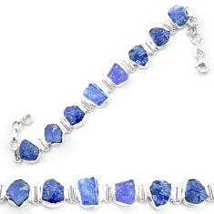 925 sterling silver natural blue tanzanite rough tennis bracelet m52716