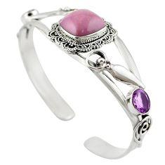 925 silver natural purple phosphosiderite (hope stone) bracelet jewelry m53620