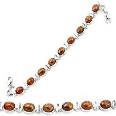 925 sterling silver natural brown pietersite (african) tennis bracelet m53660