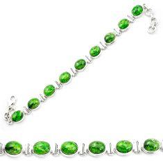 925 sterling silver natural green chrome diopside tennis bracelet m53678