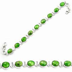 Natural green chrome diopside 925 sterling silver tennis bracelet m53680
