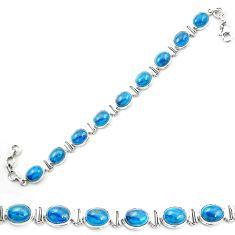 925 sterling silver natural blue apatite (madagascar) tennis bracelet m53712